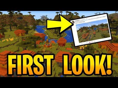 Minecraft 1.14 New Savanna Village & Secrets! Biome Update Showcase