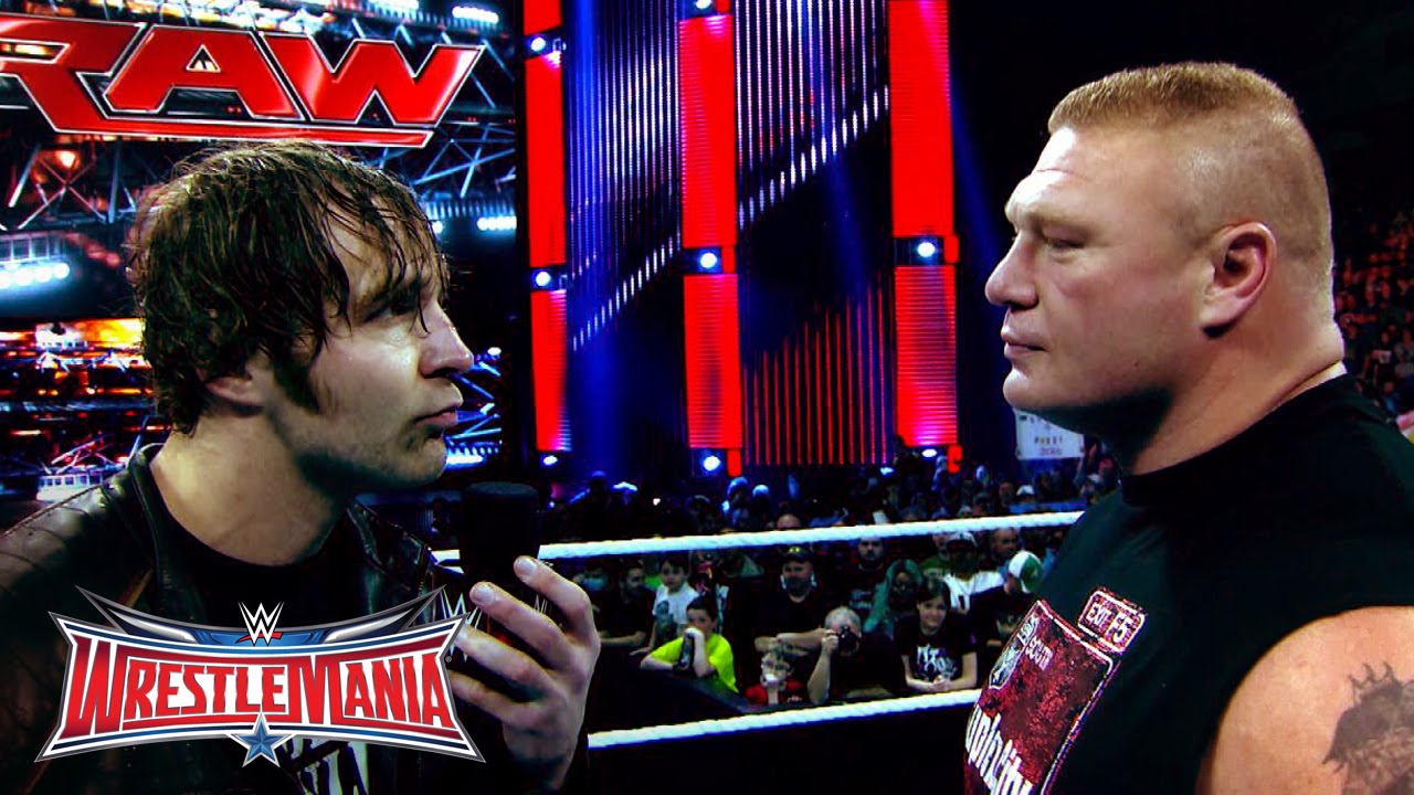 The Road to WrestleMania: Brock Lesnar vs. Dean Ambrose in ...