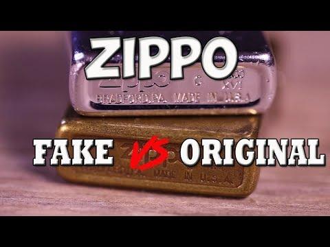 Зажигалка Zippo.  Подделка и оригинал.  Смотрим различия.
