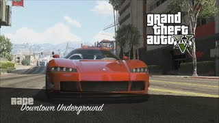 GTA 5 Online - Fast RP Downtown Underground Race (GTA V)