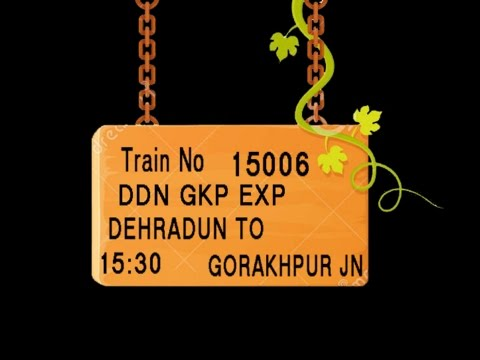 Train No 15006 Train Name DDNGKP EXP DEHRADUN HARIDWAR LAKSAR NAJIBABAD MORADABAD RAMPUR
