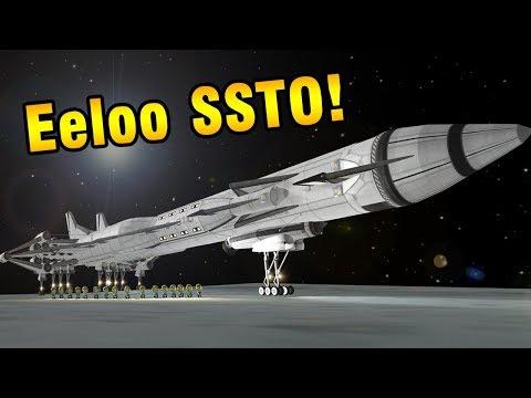 KSP: 208-Seat Eeloo SSTO - No Mining!