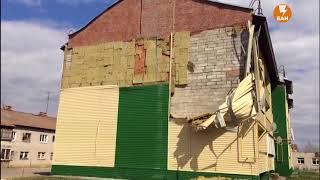 У детского сада обрушилась стена
