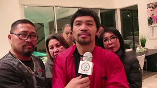 "Pacquiao returns home after victory fight, says Mayweather ""should stay retired"""