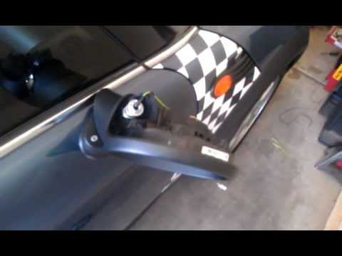 How To Replace A Mirror On A Mini Cooper Youtube