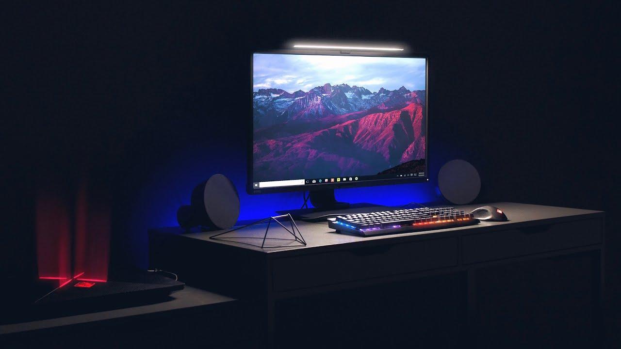Minimalist Gaming Desk Setup Tour 2017 Youtube