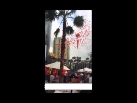 nổ  bóng bay khi khai trương Vincom Nguyễn Chí Thanh   YouTube