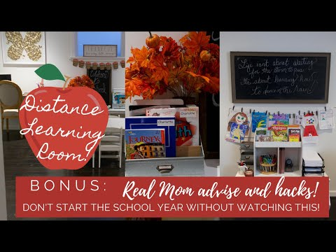 🍎✏️ TRANSFORM THE GUEST BEDROOM TO DISTANCE LEARNING ROOM + 5 HACKS FOR HOME SCHOOL YOU MUST KNOW🍎✏️