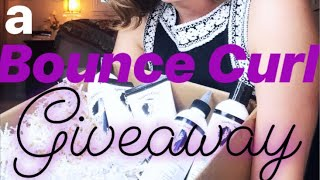 Bounce Curl giveaway THIS WEEK! | real life+curly girl