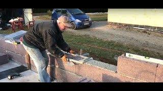 Budowa domu systemem gospodarczym.Murowanie ścian nośnych,dzień 2