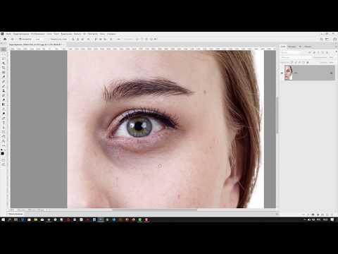 Как убрать темные круги под глазами в Adobe Photoshop