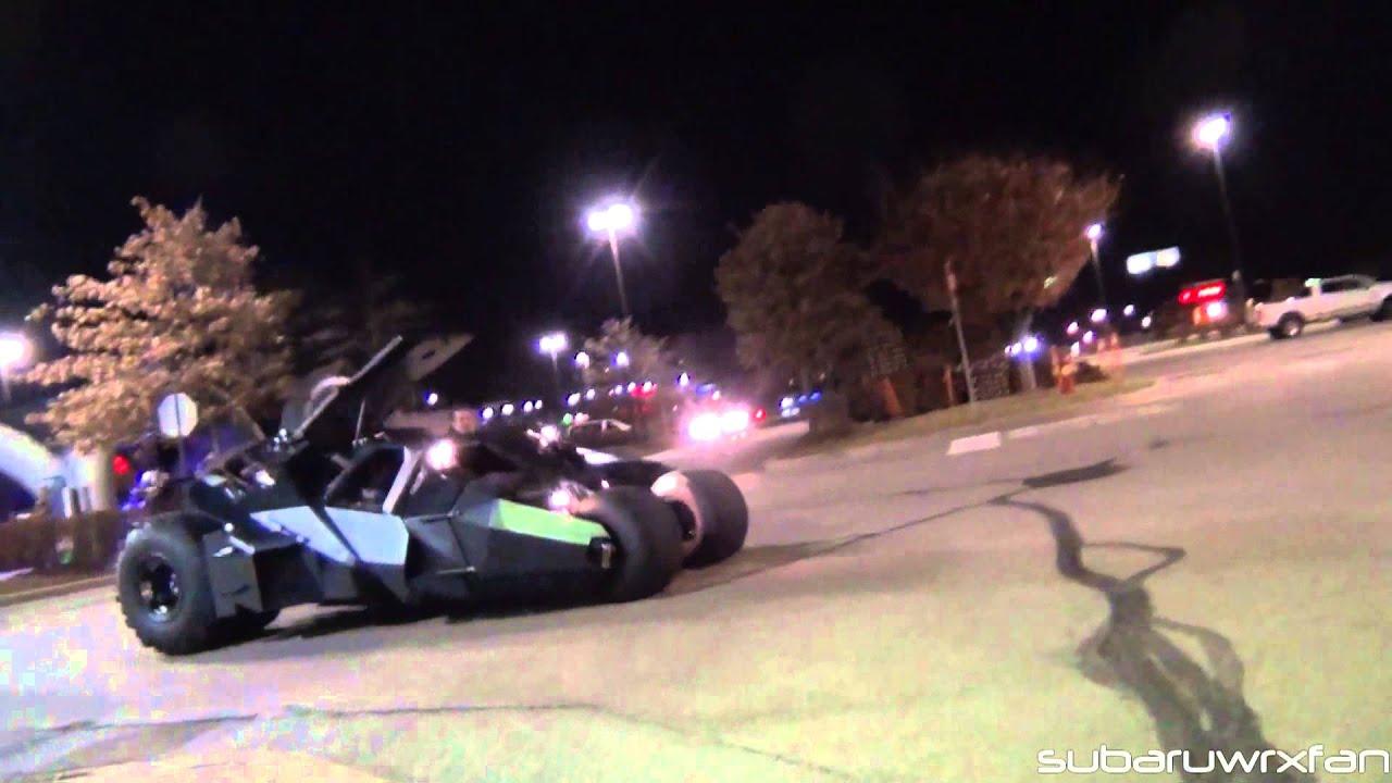 Batman\'s Tumbler Batmobile DRIVING on the Streets!!! - YouTube