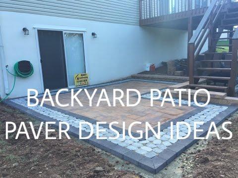 Walkout basement backyard patio paver design ideas - Ryan's Landscaping www.ryanslandscaping