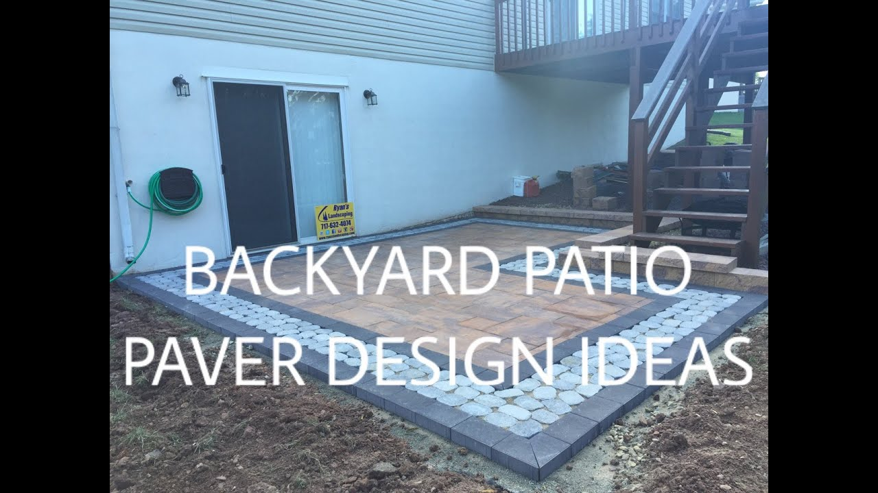 Walkout basement backyard patio paver design ideas ryan for Walkout basement patio ideas