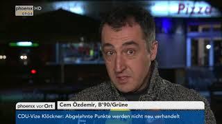 Reaktionen zur Entscheidung der SPD für den Eintritt in Koalitionsverhandlungen am 21.01.18