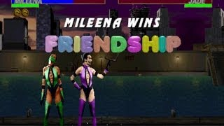 Ultimate Mortal Kombat 3 arcade Mileena Gameplay Playthrough