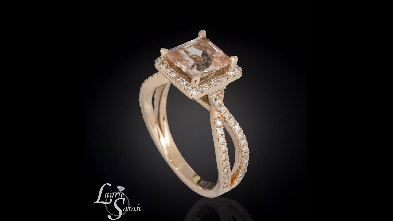 promise engagement il rope double vintage cushion products diamond bead fullxfull rings brilliant facets ring peach halo rose pink gold morganite wedding