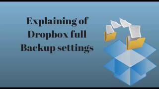 CONNECT TO DROPBOX IN BACKUP & RESTORE DROPBOX