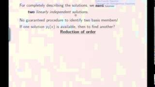 Mod-06 Lec-27 Linear Second Order ODE's