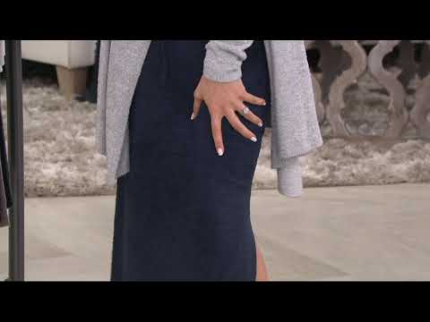 172e491137 Barefoot Dreams Cozychic Lite Maxi Skirt on QVC - YouTube