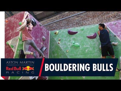 Rock climbing champ Shauna Coxsey takes Daniel Ricciardo Bouldering