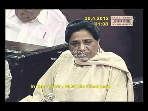 Speech of Km Mayawati Ji in Parliament (Rajya Sabha) on 30.04.2012