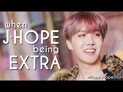 When J-HOPE being EXTRA #HappyHopeDay
