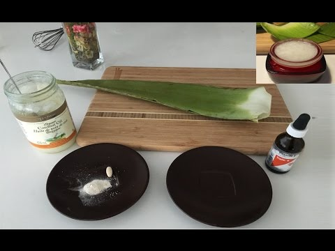 How To Make Aloe Vera Cream DIY With Coconut Oil and Vitamin E