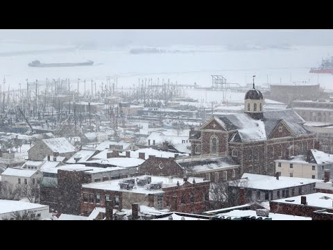 Peter Pereira:  Frozen - New Bedford Harbor