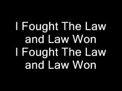 Green Day - I Fought The Law (Lyrics)