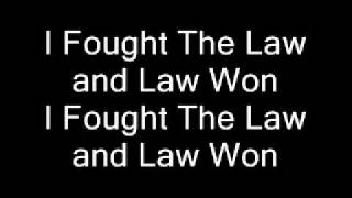 Green Day - I Fought The Law (Lyrics)