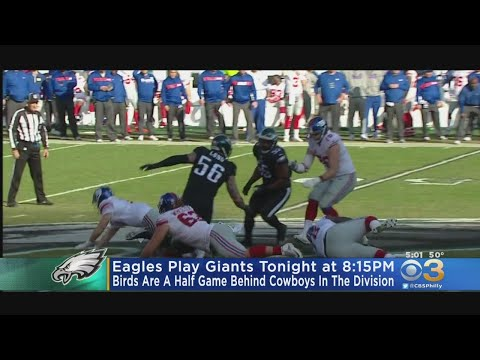 Weather Could Play Factor In Eagles' Monday Night Football Game Against Giants