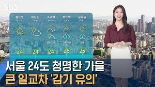 [날씨] '서울 24도' 청명한 가을…&…