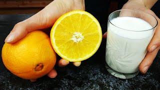 неожиданно! Просто смешайте кефир с апельсином! Гениальный рецепт, за который семья скажет спасибо!