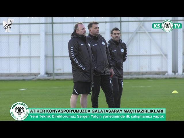 Atiker Konyaspor'umuz Teknik Direktörümüz Sergen Yalçın yönetiminde Galatasaray maçı hazırlıkl