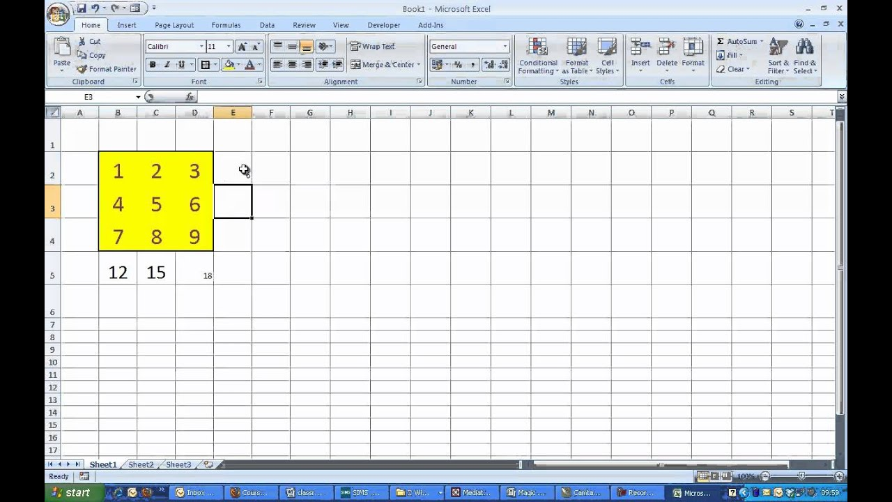 Magic Squares With Excel