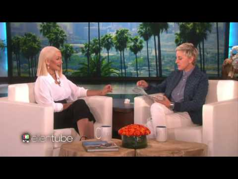 Christina Aguilera Singing Beyonce, Rihanna, Madonna, Lady Gaga & More on Ellen Show.