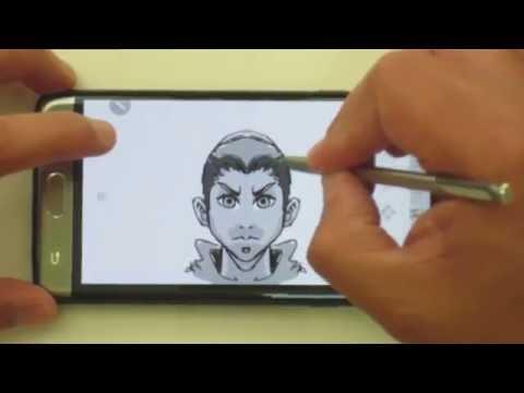 NOTE 7 Stylus Sketching with Autodesk Sketchbook speedpaint
