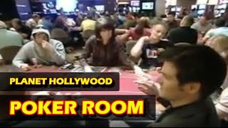 Planet Hollywood CASINO - POKERROOM in LAS VEGAS - BUSY  NIGHT (OVERVIEW)
