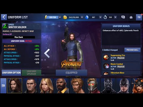 RELEASING THE WHITE WOLF 👉MYTHIC UNIFORM TEST  Marvel Future Fight