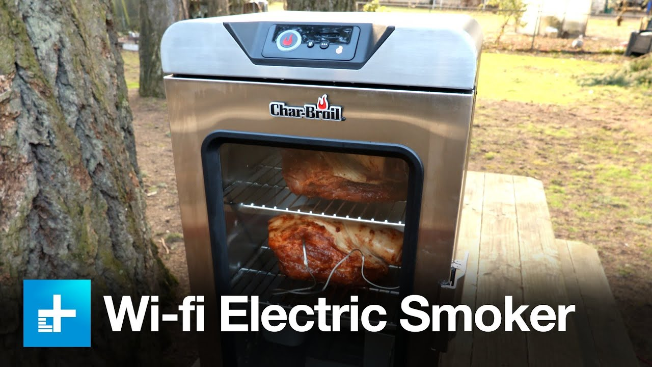 Char--Broil Digital Electric Smoker with SmartChef Technology ... on outdoor patio bar design ideas, deck design, outdoor covered patio design ideas, deck garden, deck construction,