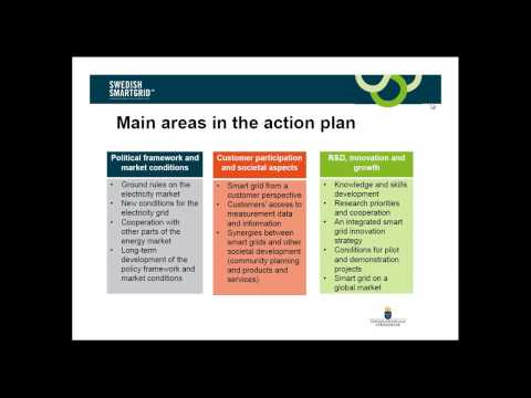 Developing a National Action Plan for Smart Grids: Lessons from Sweden