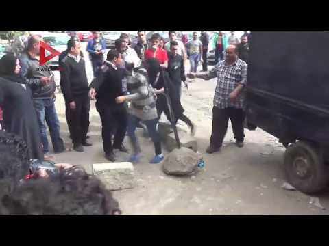 لحظة وصول وخروج غادة إبراهيم والمتهمات من جنح المعادي