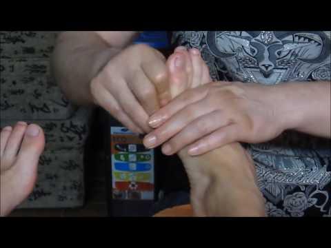 foot toe and leg Chinese massage  - ASMR no talk
