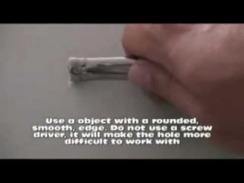 The best method of Nail Hole repair. DO NOT USE ANY OTHER METHOD ...