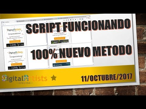 Script Digital Artists Online 11 de Octubre 2017 | Nuevo Método Funcionando 100%