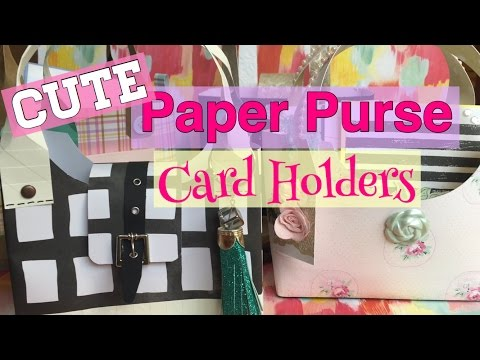 CUTE & Easy Paper Purse Card Holders // Mothers Day DIY Gift Ideas| I'm A Cool Mom