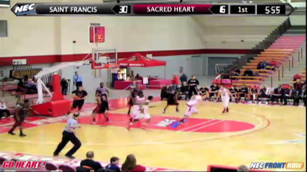 Sacred Heart Vs Saint Francis University Mens Basketball Highlights