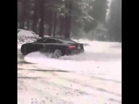 Audi A5 Quattro on Snow