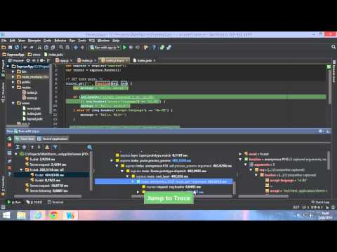 WebStorm 9 - Spy-js for Node.js: tracing, debugging and profiling Node